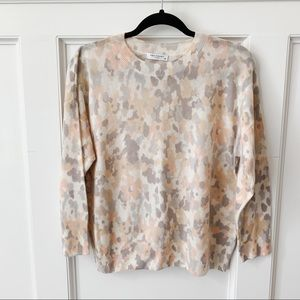 Equipment Ivory Floral Cashmere Sweater
